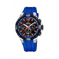 Festina F20523/1 Herren-Uhr Chrono Bike Chronograph Quarz Silikon-Armband