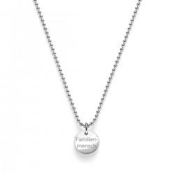 Beka & Bell 5024 Halskette Anhänger Lieblingsstück Familienmensch Silber
