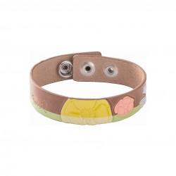 Fossil JF86118040 Armband Damen Blumen Leder Braun