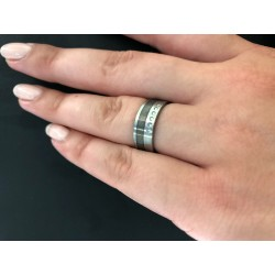 TeNo 067.22801.D30 Design-Ring Edelstahl 6 Brillanten 0,008 ct. Gr. 52