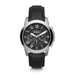 Fossil FS4812IE Herren-Uhr Grant Chronograph Quarz mit Leder-Band Ø 44 mm