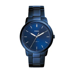 Fossil FS5461 Herren-Uhr The Minimalist 3H Edelstahl Meerblau Ø 44 mm