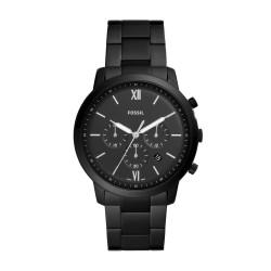 Fossil FS5474 Herren-Uhr Neutra Edelstahl Chronograph Schwarz Ø 44 mm