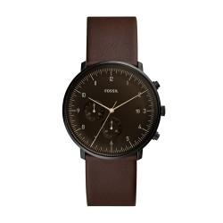 Fossil FS5485 Herren-Uhr Chase Timer Chronograph Quarz mit Leder-Band Ø 42 mm