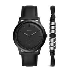 Fossil FS5500SET Set Herren-Uhr The Minimalist Analog Armband Ø 44 mm