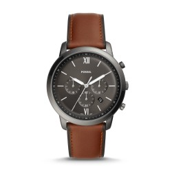 Fossil FS5512 Herren-Uhr Neutra Chronograph Quarz mit Leder-Band