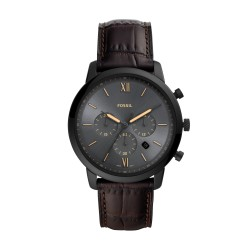 Fossil FS5579 Herren-Uhr Neutra Chronograph Quarz mit Leder-Band Ø 44 mm