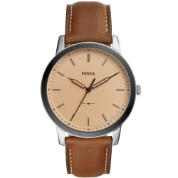 Fossil FS5619 Herren-Uhr The Minimalist Analog Quarz Leder-Band Ø 42 mm