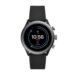 Fossil FTW4019 Smartwatch Herren Sport mit Silikon-Band Ø 43 mm