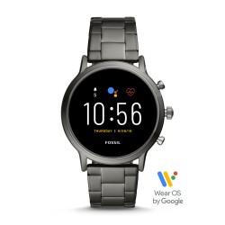 Fossil FTW4024 Smartwatch Herren The Carlyle HR 5. Generation mit Edelstahl-Band Ø 44 mm