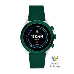 Fossil FTW4035 Smartwatch Herren Sport Grün mit Silikon-Band Ø 43 mm