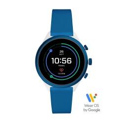 Fossil FTW6051 Smartwatch Damen Sport Blau mit Silikon-Band Ø 41 mm