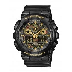 Casio GA-100CF-1A9ER Herren-Uhr G-Shock Classic Chronograph Resin-Armband