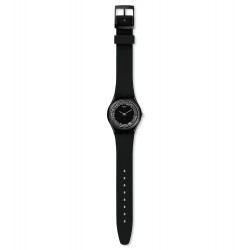 Swatch GB312 Damen-Uhr Sparklenight Think Fun Silikon Schwarz Ø 34 mm