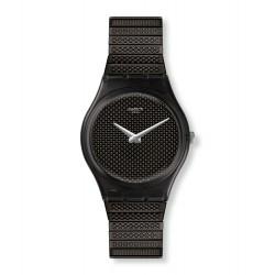 Swatch GB313 Armbanduhr Noirette Analog Quarz mit Edelstahl-Band Ø 34 mm