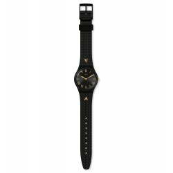 Swatch GB324 Armband-Uhr Lancelot Analog Quarz mit Silikon-Band