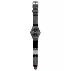 Swatch GB430  Armband-Uhr Blackeralda Analog Quarz Silikon-Armband