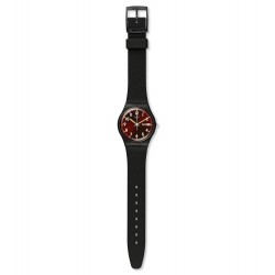 Swatch GB753 Armband-Uhr Sir Red Classic Analog Quarz Silikon-Band