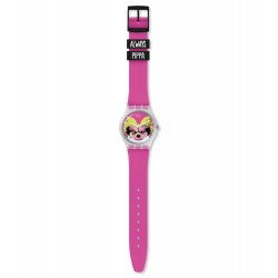 Swatch GE267 Armbanduhr Pinkapippa Quarz Silikon Armband Ø 34,00 mm