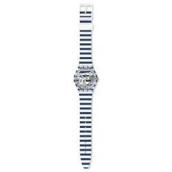 Swatch GE270 Armbanduhr Just Paul Analog Quarz mit Silikon Armband Ø 34,00 mm