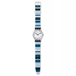 Swatch GE275 Armband-Uhr Night Sky Analog Quarz mit Silikon-Band