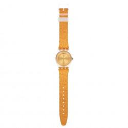 Swatch GE285 Armband-Uhr Sparklingot Analog Quarz Silikon-Armband