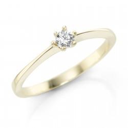 Karat 93005940 Ring Damen 375/- Gelbgold Zirkonia Weiss Gr. 52