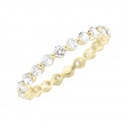 Karat 93011240540 Memoire-Ring Damen 375/- Gelb-Gold Zirkonia Gr. 54
