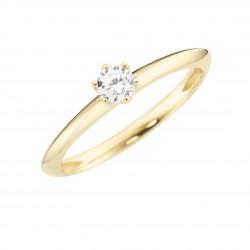 Karat 93012140540 Ring Damen im Brillantschliff Gelb-Gold Zirkonia Gr. 54