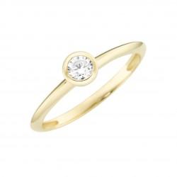 Karat 93012340560 Ring Damen im Brillantschliff Gelb-Gold Zirkonia Gr. 56