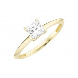 Karat 93011440520 Ring Princess Cut Schliff Gelb-Gold Zirkonia Gr. 52