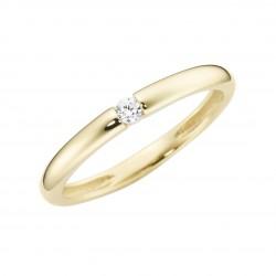 Karat 93011540520 Ring Damen im Brillantschliff Gelb-Gold Zirkonia Gr. 52