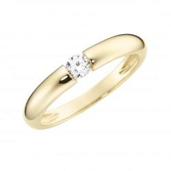 Karat 93011740560 Ring Damen im Brillantschliff Gelb-Gold Zirkonia Gr. 56