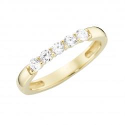 Karat 93011940520 Ring Damen Gelb-Gold Zirkonia Gr. 52