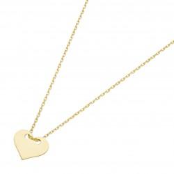 Karat 99036340450 Halskette mit Anhänger Damen Herz 375/- Gelb-Gold