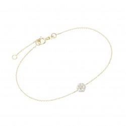 Karat 92014140195 Armband Damen Blüte 375/- Gelb-Gold Zirkonie