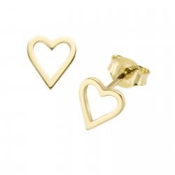 Karat 94032640 Ohrringe Ohrstecker Herz 375/- Gelb-Gold