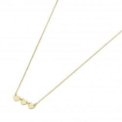 Karat 99046540450 Kette mit Anhänger Damen 3 Herzen 375/- Gelb-Gold