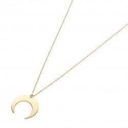 Karat 99047240450 Halskette mit Anhänger Damen Mondsichel 375/- Gelb-Gold