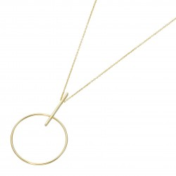 Karat 99047640450 Kette-Anhänger Damen Bohemian Style Ring 375/- Gelb-Gold