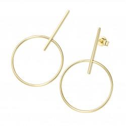 Karat 94033140 Ohrringe Ohrhänger Bohemian Style Ring 375/- Gelb-Gold