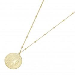 Karat 99049540450 Halskette mit Anhänger Coin Ornament Münzen-Optik 375/- Gelb-Gold