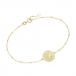 Karat 92019640190 Armband Coin Ornament Münzen-Optik 375/- Gelb-Gold