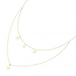Karat 99049840450 Halskette Damen 4 Sterne 375/- Gelb-Gold