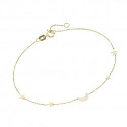 Karat 92020040190 Armband Damen Mond 4 Sterne 375/- Gelb-Gold