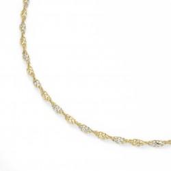 Karat 99017140450 Kette Collier Fantasie Gedreht 375/- Gelb-Gold