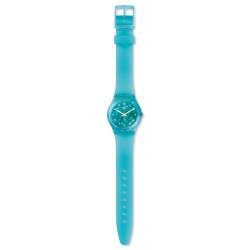 Swatch GL123 Armband-Uhr Mint Flavour Analog Quarz Silikon-Armband