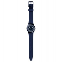 Swatch GN254 Armband-Uhr Blue Ben Brit-in Analog Quarz Silikon-Band