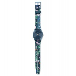 Swatch GN258 Armbanduhr Ovni Garden Worldhood Silikon Ø 34 mm