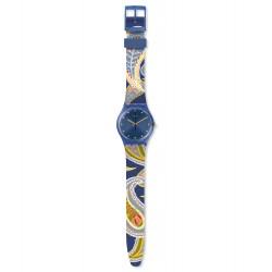Swatch GN263 Armband-Uhr Skinrouge Analog Quarz mit Silikon-Band